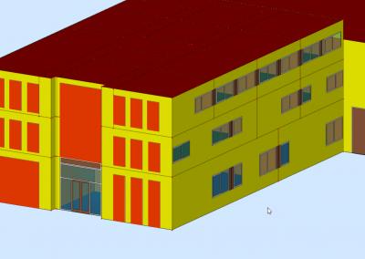 Weergave positie zonwering in Builder model