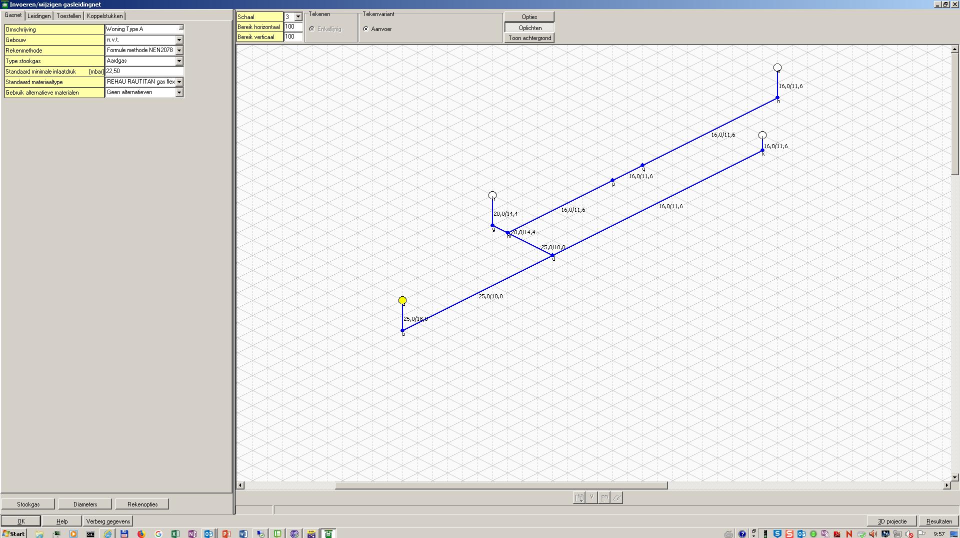 Zeer Gasleiding - modelleren en berekenen gasleidingnet voor woningen TQ37