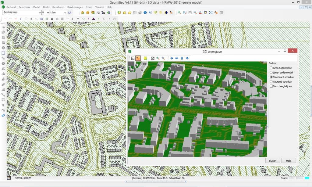 3D-data voor geluidsberekeningen in Geomilieu